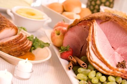 Ham dinner for Easter